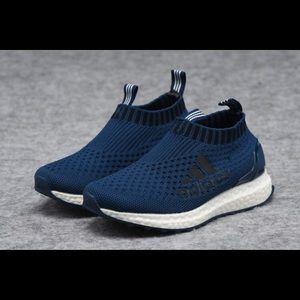 Kids dark blue adidas sneakers